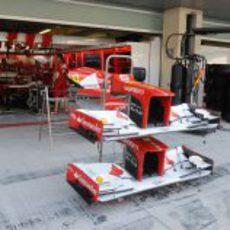 Los alerones de Ferrari listos en Yas Marina