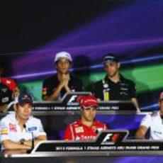 Rueda de prensa de la FIA del jueves en el GP de Abu Dabi 2012
