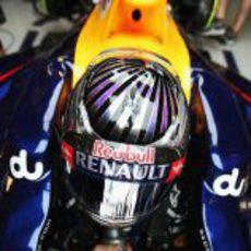 Nuevo casco de Sebastian Vettel para el GP de Abu Dabi 2012