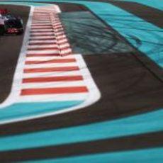 Lewis Hamilton en los libres del GP de Abu Dabi 2012