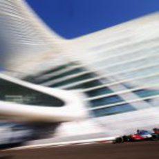 Jenson Button en los libres del GP de Abu Dabi 2012