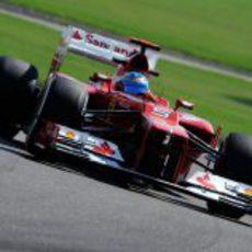 Fernando Alonso trata de mejorar los tiempos en Abu Dabi