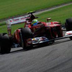 Felipe Massa tuvo un ritmo aceptable con el F2012