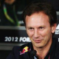 Christian Horner en la rueda de prensa de la FIA en India