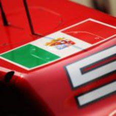 Bandera de la marina italiana en el Ferrari F2012