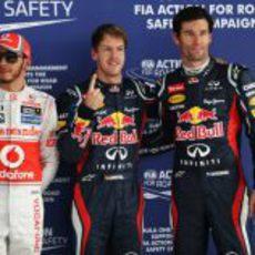 Vettel, Webber y Hamilton, los más rápidos el sábado en Buddh