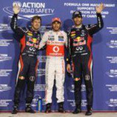 Hamilton, Webber y Vettel, los más rápidos de la clasificación en Abu Dabi