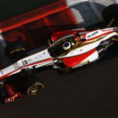 Pedro de la Rosa en la clasificación del GP de Abu Dabi 2012
