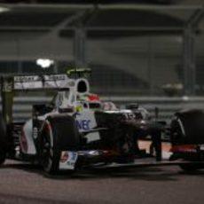 Sergio Pérez tuvo mala suerte en el GP de Abu Dabi 2012
