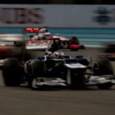 Pastor Maldonado estuvo con los mejores en la carrera de Abu Dabi