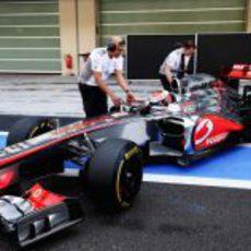 Kevin Magnussen con McLaren en los test de Abu Dabi 2012