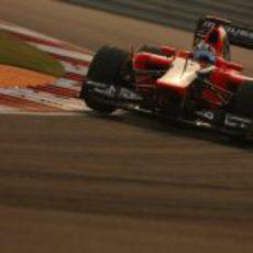 Timo Glock exprimió su MR01 en India y terminó 20º