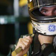 Giedo van der Garde se prepara para rodar con el CT01