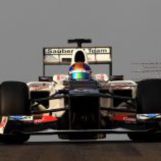 Esteban Gutiérrez rodó con Sauber en el segundo día de test de Abu Dabi
