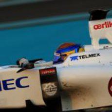 Esteban Gutiérrez estuvo también con Sauber el tercer día de test