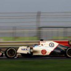 Esteban Gutiérrez terminó los test en Abu Dabi en tercera posición