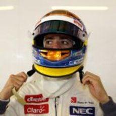 Esteban Gutiérrez se prepara para afrontar su último día de test