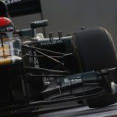 Alexander Rossi pilota el CT01 en Yas Marina