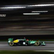 Heikki Kovalainen en los libres del GP de Abu Dabi 2012