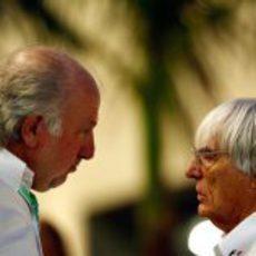 David Richards y Bernie Ecclestone en Yas Marina