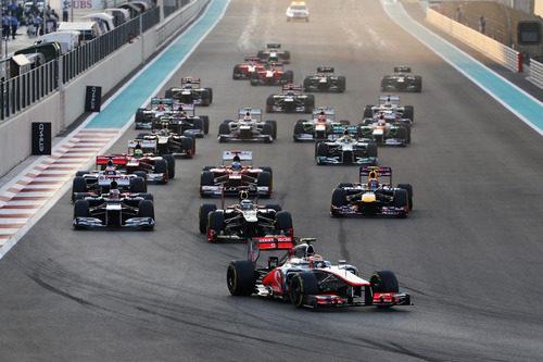 Salida del GP de Abu Dabi 2012