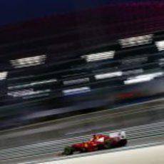 Fernando Alonso en la carrera del GP de Abu Dabi 2012