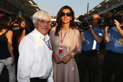 Bernie Ecclestone y Fabiana Flossi en Abu Dabi 2012