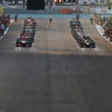 Parrilla de salida del GP de Abu Dabi 2012