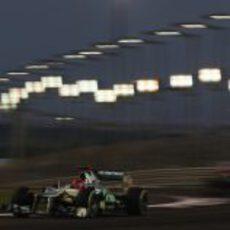 Michael Schumacher en la carrera del GP de Abu Dabi 2012