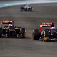 Los dos hombres de Toro Rosso luchan por posición en Abu Dabi
