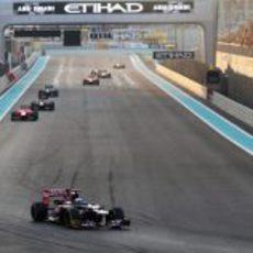 Daniel Ricciardo tuvo bastante ritmo en Abu Dabi