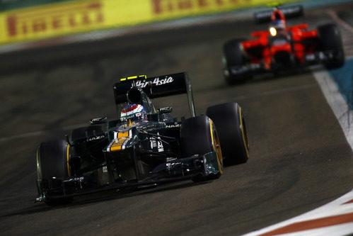 Vitaly Petrov no logró superar a Marussia en Abu Dabi