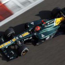 Heikki Kovalainen rueda en los Libres 3 del sábado en Abu Dabi