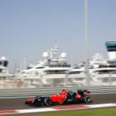 Timo Glock completa los Libres 3 del GP de Abu Dabi 2012