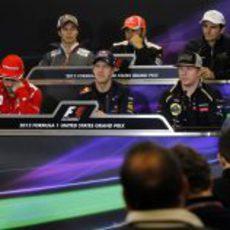 Rueda de prensa de la FIA del jueves en el GP de EE.UU. 2012