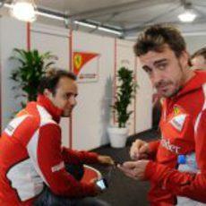 Fernando Alonso y Felipe Massa en Austin