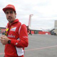 Fernando Alonso llega al Circuito de las Américas