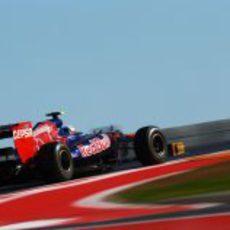 Jean-Eric Vergne rueda en el Gran Premio de Estados Unidos