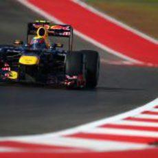 Mark Webber rodando en el Circuito de las Américas