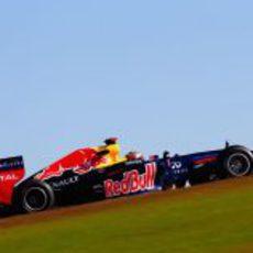 Sebastian Vettel a final de recta