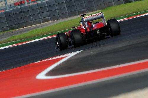 La trasera del F2012 de Fernando Alonso