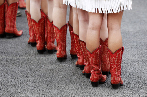 Las piernas de las 'pit babes' del GP de Estados Unidos 2012