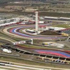 Vista aérea de la torre del Circuito de las Américas
