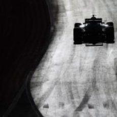 Nico Rosberg a contraluz en Austin
