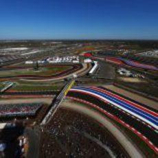 Otra vista aérea del Circuito de las Américas