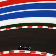 Pastor Maldonado rueda en los libres del GP de Estados Unidos 2012
