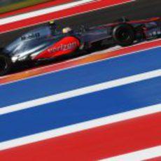Lewis Hamilton en los libres del GP de Estados Unidos 2012