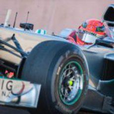 Michael Schumacher rueda en Estados Unidos