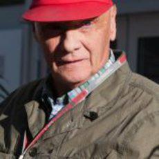 Niki Lauda, de visita en Austin