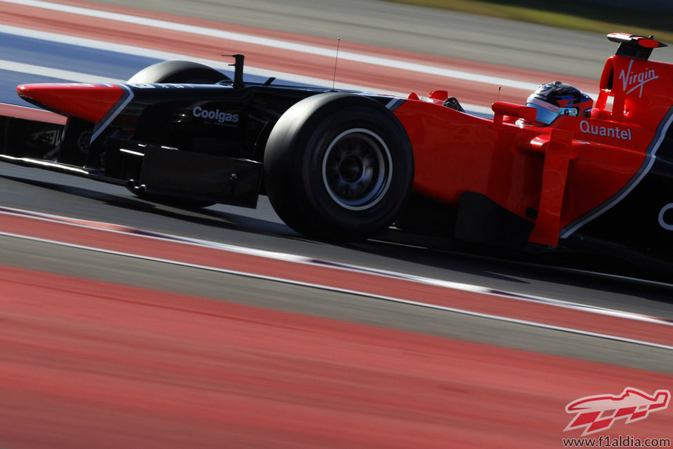 Timo Glock rodando en el Gran Premio de Estados  Unidos
